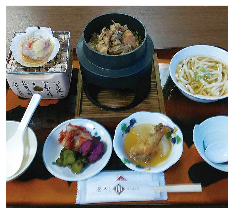 Chicken Kama-meshi set meal