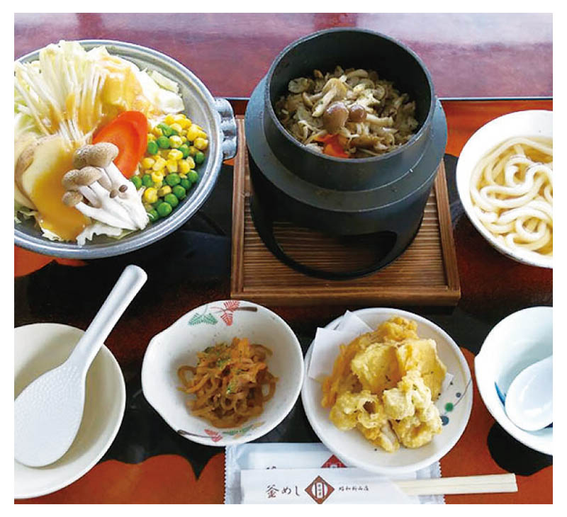 Vegetarian cuisine set meal